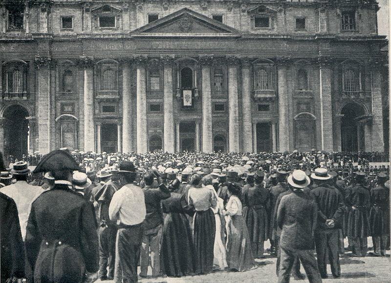 Rok 1903: dzień wyboru Ojca Świętego Piusa X.