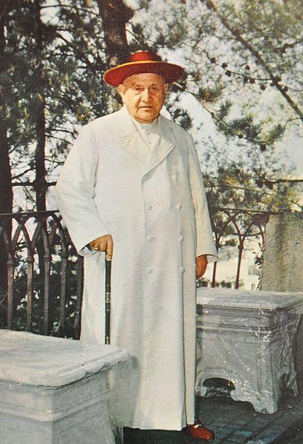 Jan XXIII w czasie spaceru.
