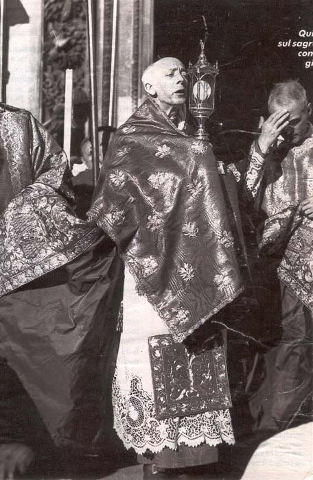 Cardinal Schuster with Monstrance