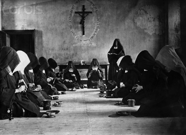 Carmelite Nuns Preparing Meal of Bread and Water