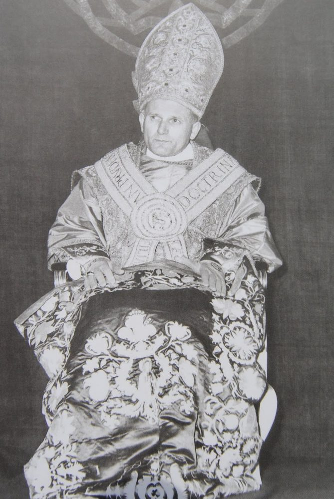 archbishop wojtyla with gremial veil