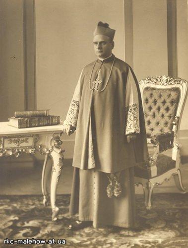 Ksiądz Eugeniusz Baziak zapewne jako biskup pomocniczy diecezji lwowskiej.