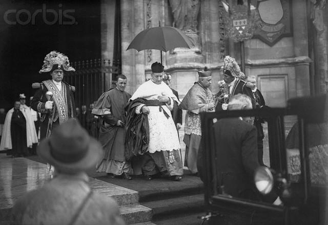 Cardinal Lepicier Attending Ceremonies