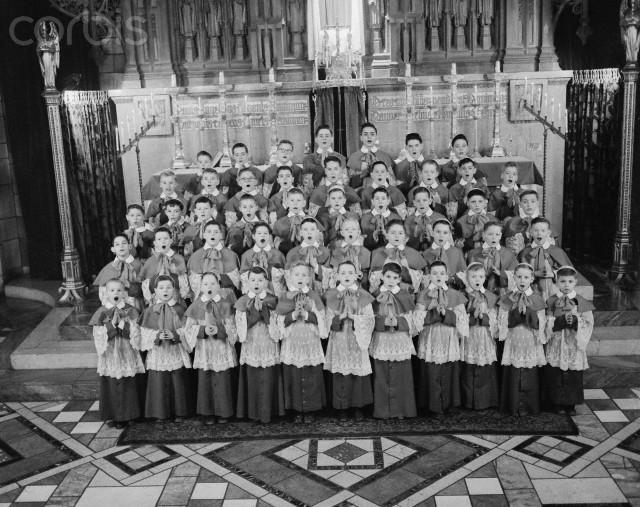 Boys Choir Rehearsing for Christmas