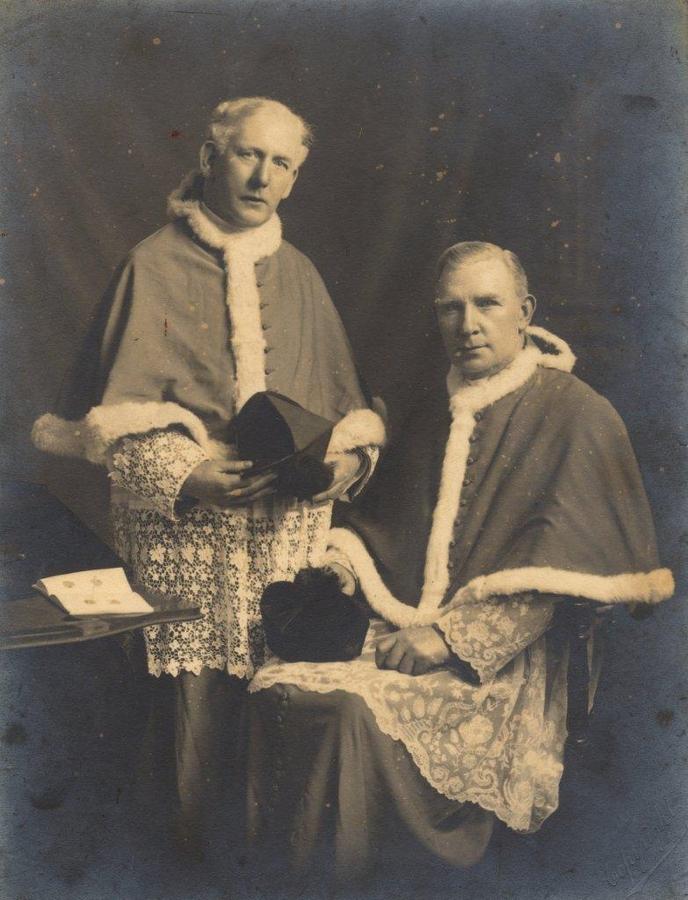 Mgr Patrick Macnamara with his brother (large)