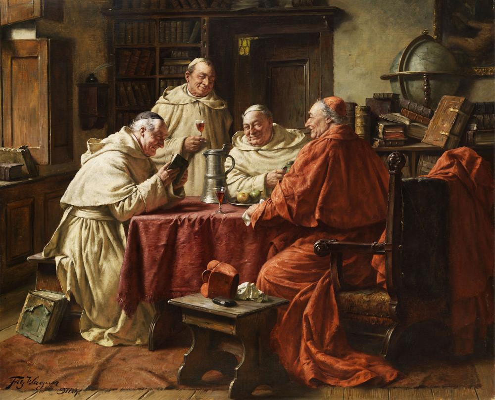 1265px-Fritz_Wagner_Kardinal_mit_Mönchen_in_einer_Klosterbibliothek